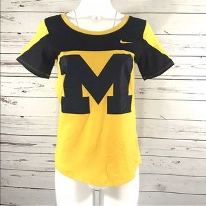 Michigan football shirt by the Nike tee sz M